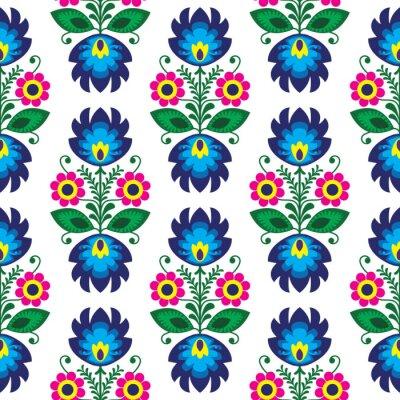 Poster Seamless modello tradizionale polacco floreale - sfondo etnico
