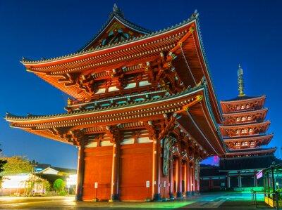 Poster Senso-ji, Tempio di Asakusa, a Tokyo, in Giappone.