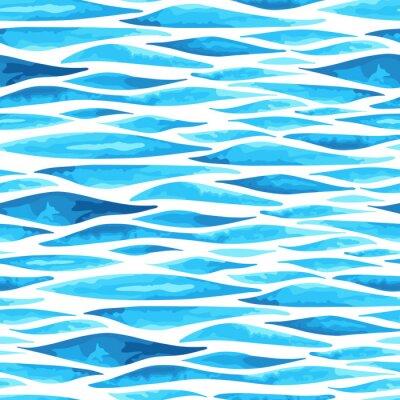 Poster Senza soluzione di continuità orizzontale sfondo del mare