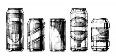 Poster serie di lattine per bevande