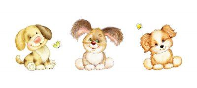 Poster Set di 3 cuccioli svegli
