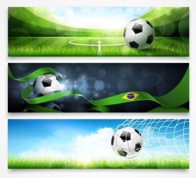 Poster Set di banner di calcio. Vettore
