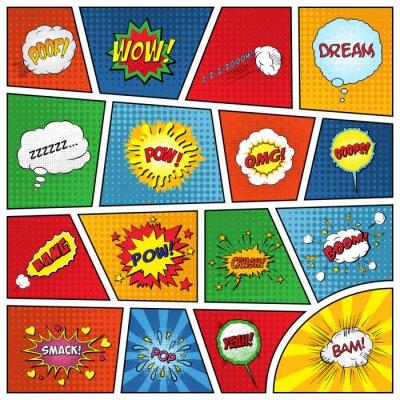 Poster Set di effetti sonori comici
