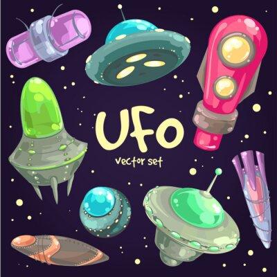 Poster Set di UFO disegnati a mano