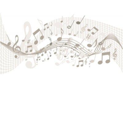 Poster Sfondo con note musicali