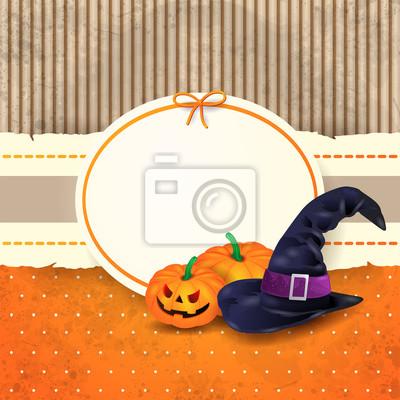 Poster Sfondo di Halloween con etichetta 4b62de52e5a4