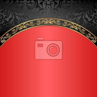Poster Sfondo Rosso E Nero Depoca