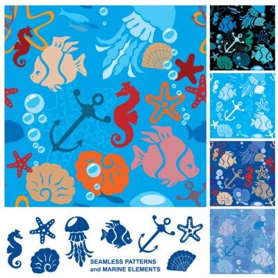 Poster Sfondo trasparente con la vita marina