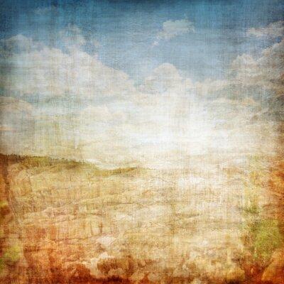 Poster Sfondo Vintage Paesaggio Tessuto