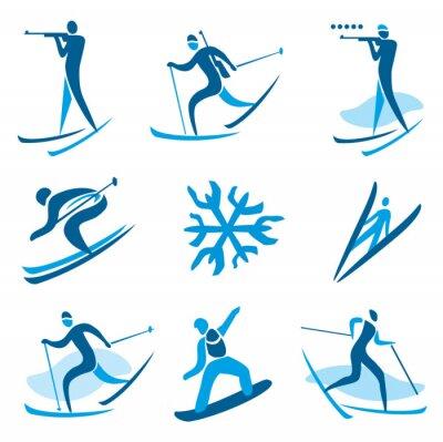Poster Simboli di sport invernali