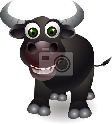 Simpatico cartone animato toro manifesti da muro u poster corrida