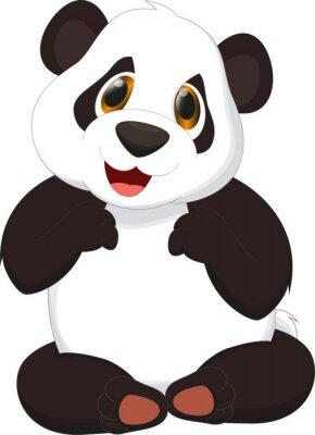 Poster simpatico panda cartone animato