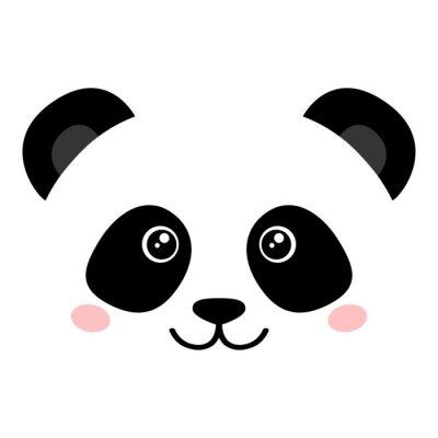 Poster Simpatico panda faccia