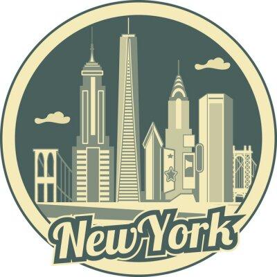 Poster skyline di Manhattan