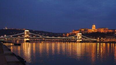 Poster Skyline Ponte delle Catene di Budapest