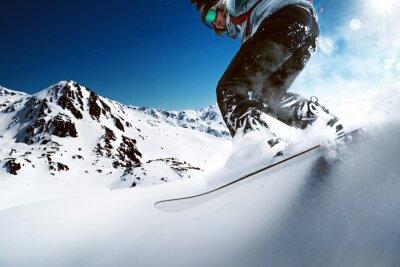 Poster Snowboarder in discesa