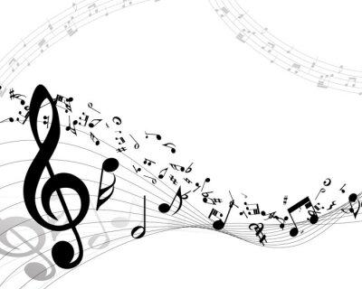 Poster Sottofondo musicale
