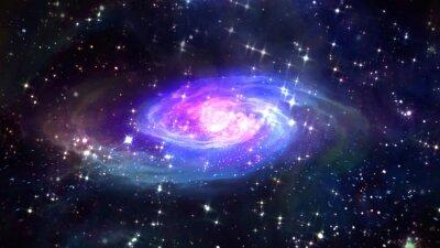 Poster spazio Galaxy blu nello spazio.