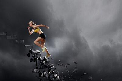 Poster Sport donna superare le sfide