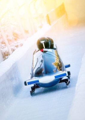 Poster Sport invernali - Zweierbob im Eiskanal