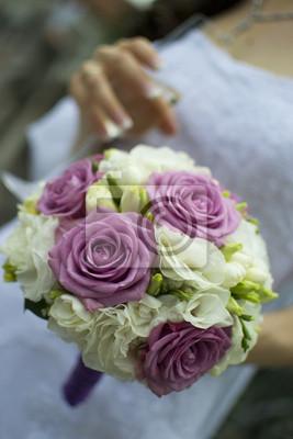 Mazzo Di Fiori Elegante.Sposa Con Un Bouquet Elegante O Un Mazzo Di Fiori Manifesti Da