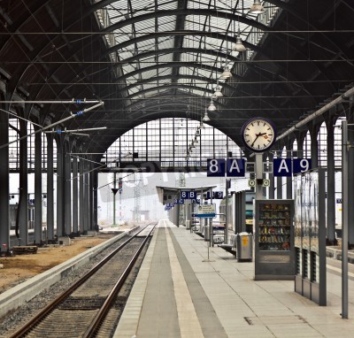 Poster Stazione dei treni classicistical a Wiesbaden, Germania