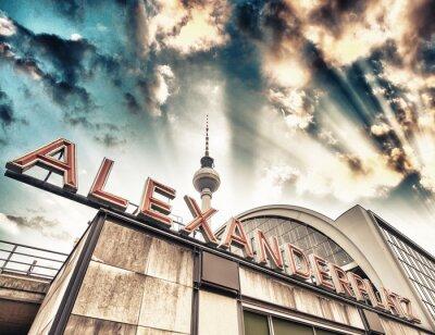 Poster Stazione ferroviaria di Alexanderplatz a Berlino - Germania