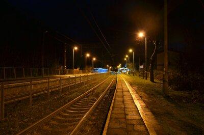 Poster stazione notte