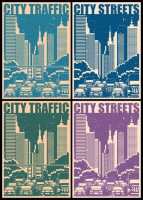 Poster strade cittadine Poster Retrò