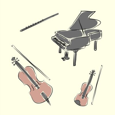 Poster strumenti musicali