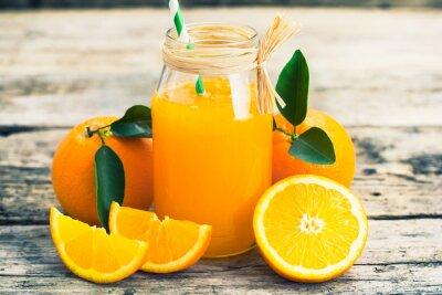 Poster succo d'arancia