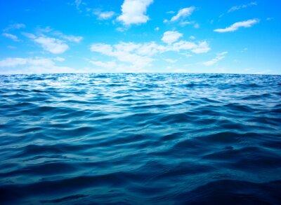 Poster superficie di acqua di mare blu