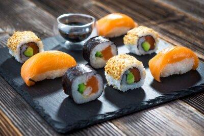 Poster sushi di pesce giapponese