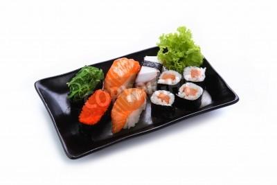 Poster sushi isolato su uno sfondo bianco