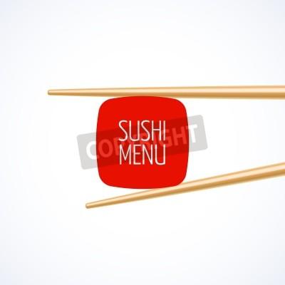 Poster Sushi modello di menu cover