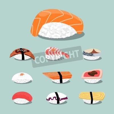 Poster Sushi set icon