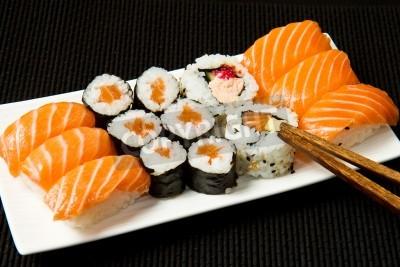 Poster Sushi Set sul nero