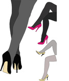 Eleganti scarpe rosse manifesti da muro • poster calzino 0ee87a8c7e7