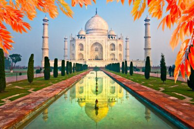 Poster Taj Mahal all'alba, Agra, Uttar Pradesh, India.