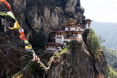 Poster Taktshang Goemba, Nido monastero di Tiger in Bhutan