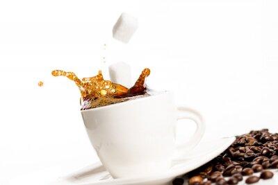 Poster Tazza di caffè spruzzi