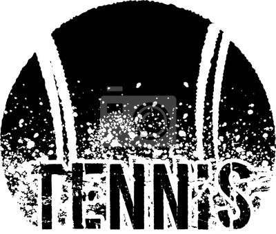 Poster tennis dark grunge