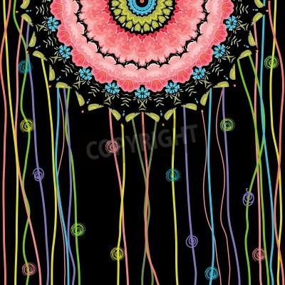 Poster texture design mandala