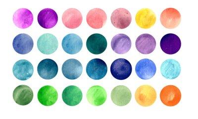 Poster Textures Acquerello cerchio. Mega pack-utile per voi di trascinare