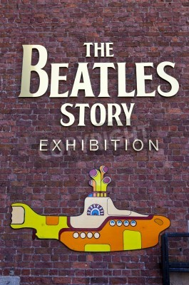 Poster The Beatles Story Exhibition a Liverpool