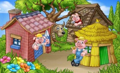 Poster The Three Little Pigs Scene da favola