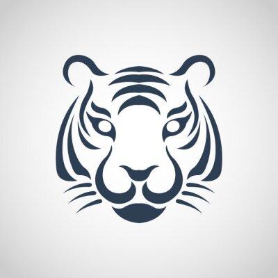 Poster tiger logo vettoriale