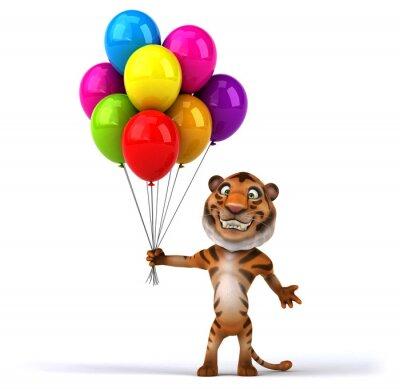 Poster Tigre di divertimento