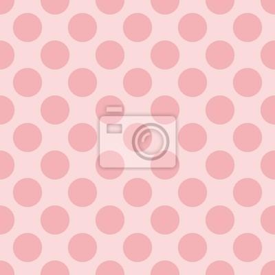 Tile Vector Pattern Pastello Con Pois Su Sfondo Rosa Manifesti Da
