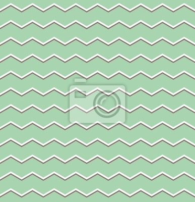 Poster Tile Vettore Modello Marrone E Bianco A Zig Zag Su Sfondo Verde
